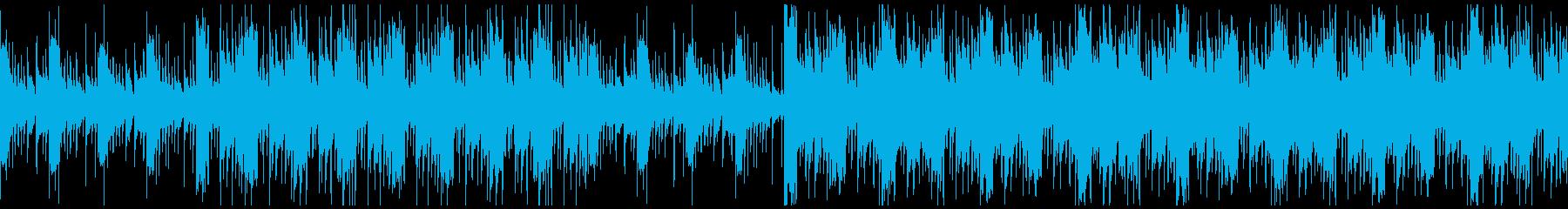 幻想的で民族音楽テイストのアコギBGMの再生済みの波形