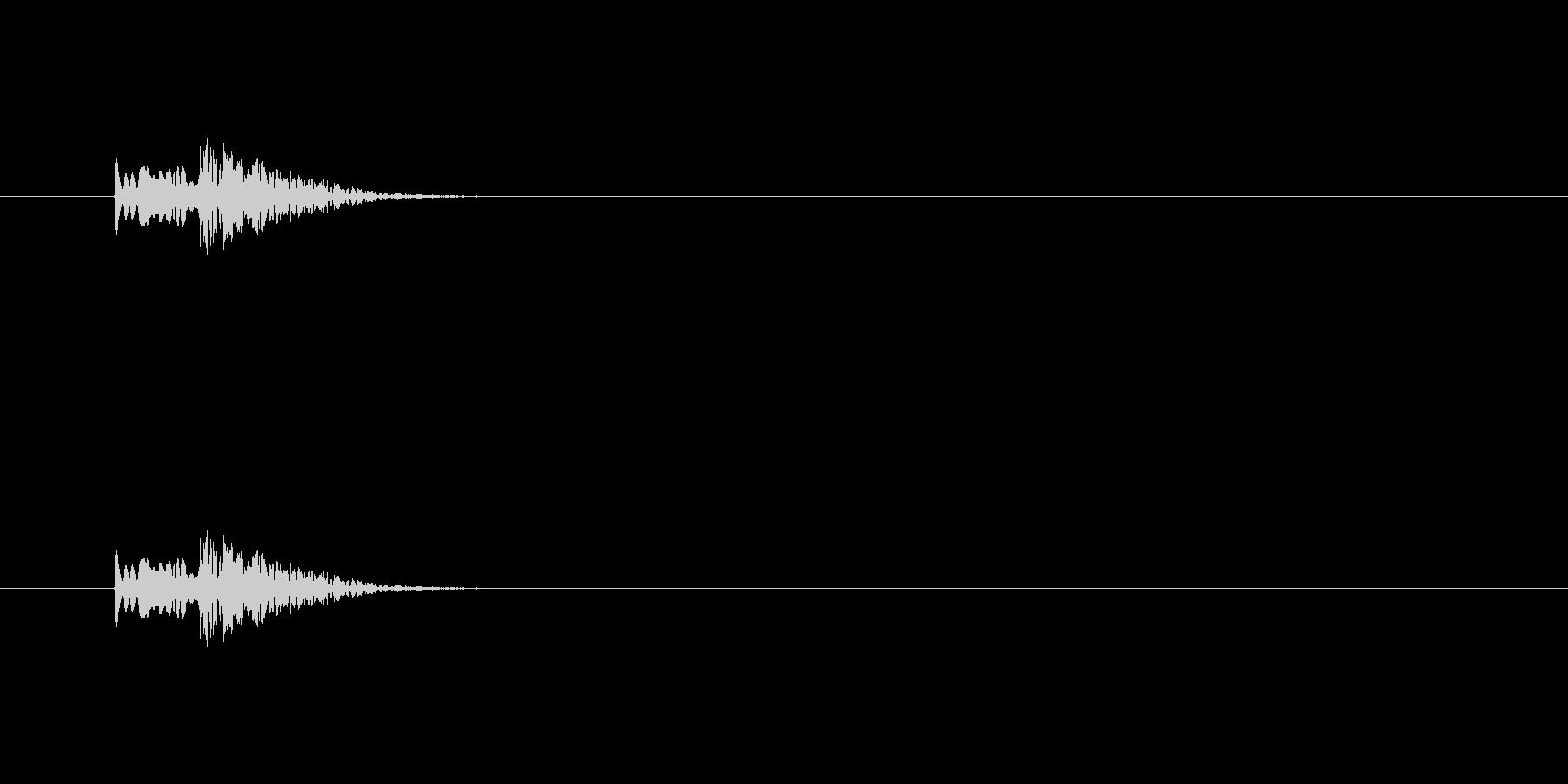 【アクセント33-1】の未再生の波形