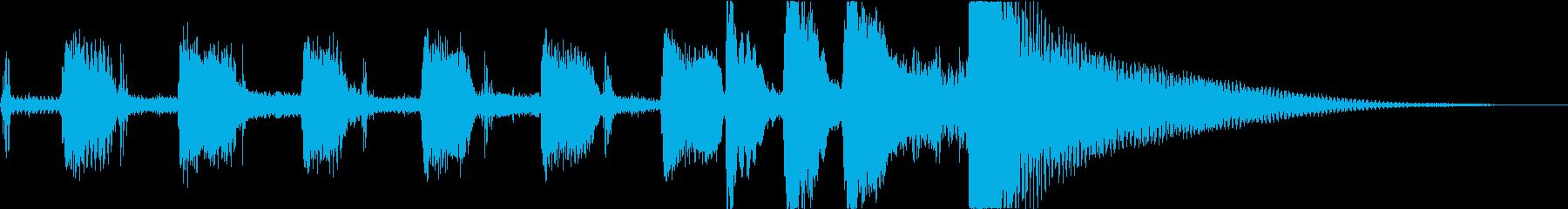 とぼけた日常を表現したジングルの再生済みの波形