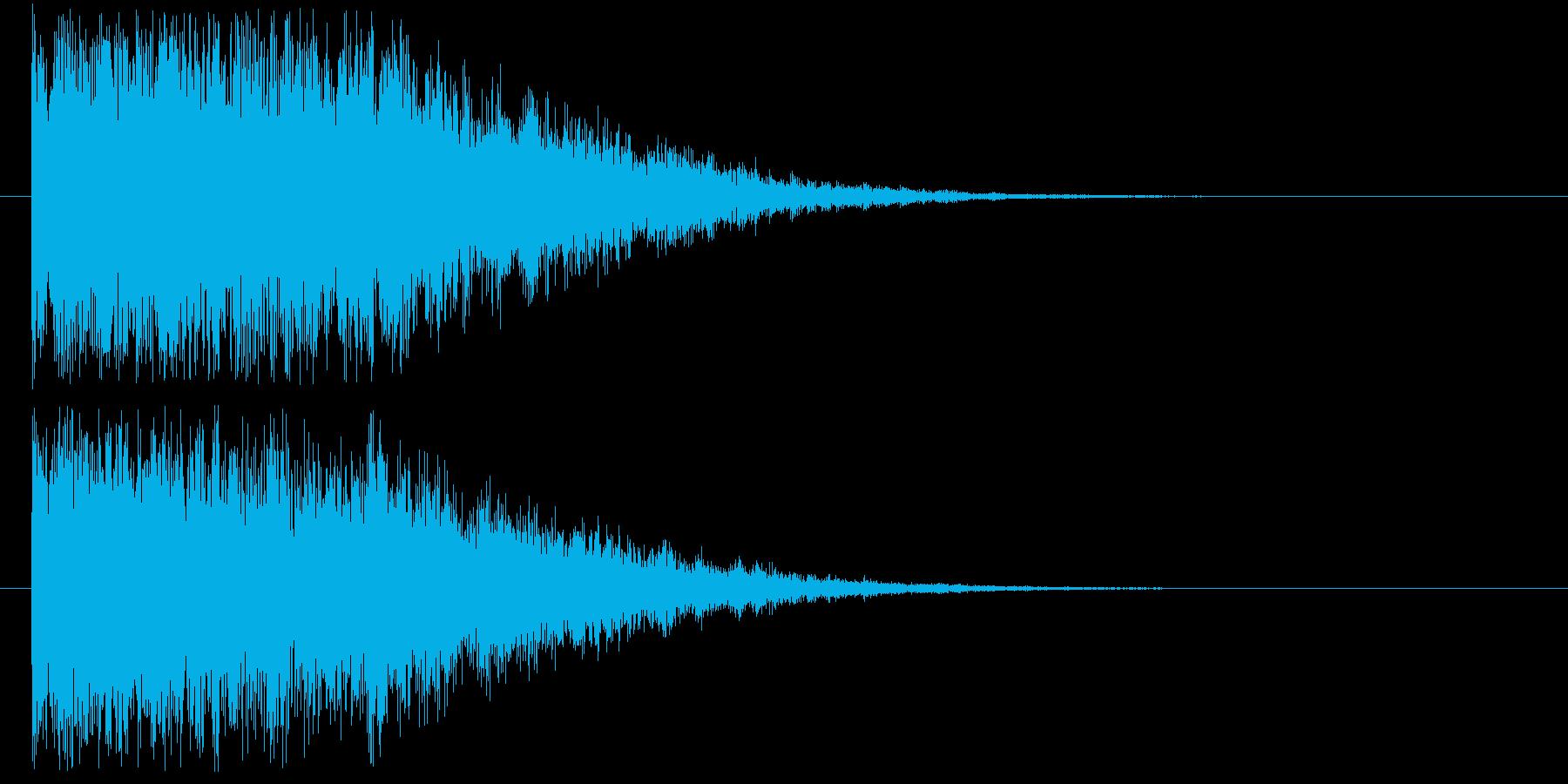 【決定音 1】 明るい,ボタン音の再生済みの波形