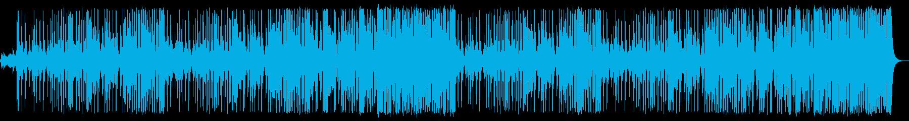 和太鼓が激しく鳴り響くドラミング尺八ありの再生済みの波形