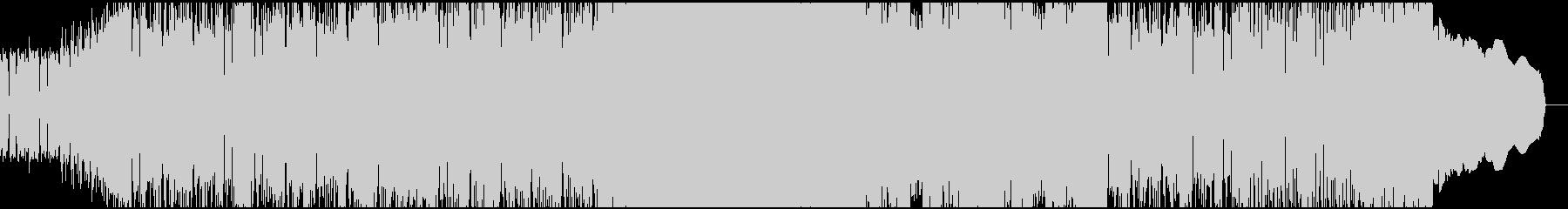 アグレッシブで疾走感あるハードロックの未再生の波形