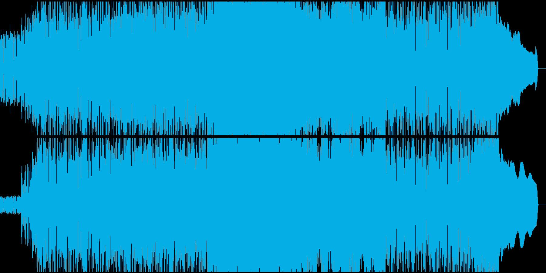 アグレッシブで疾走感あるハードロックの再生済みの波形