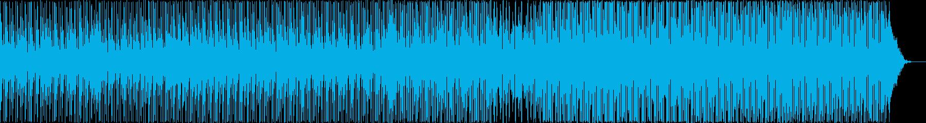 スローテンポの和風ヒップホップの再生済みの波形