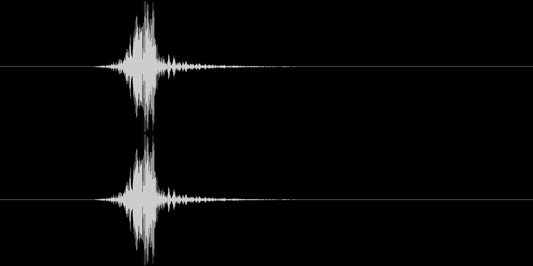 素振り、空を切る音2の未再生の波形