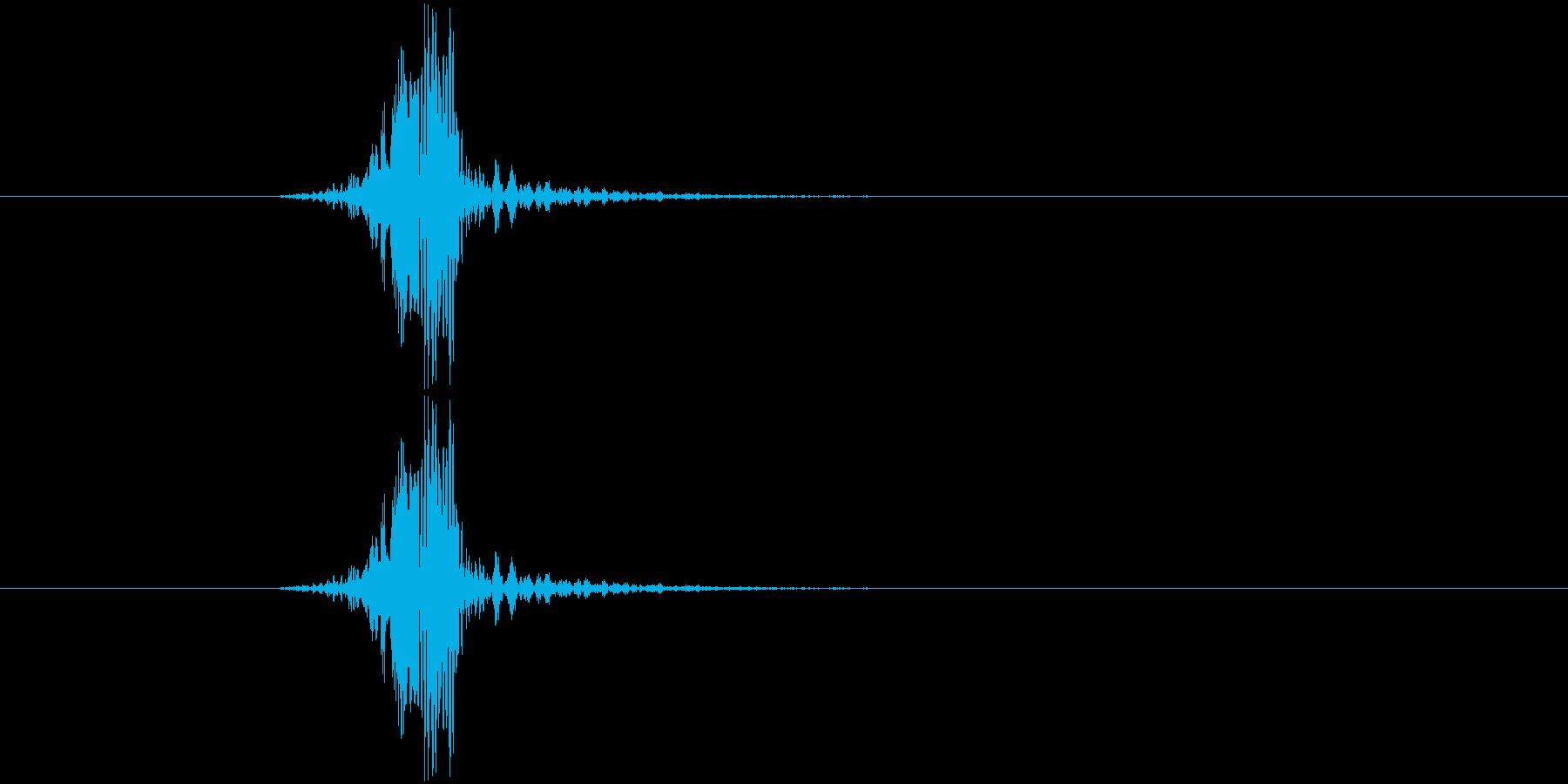 素振り、空を切る音2の再生済みの波形