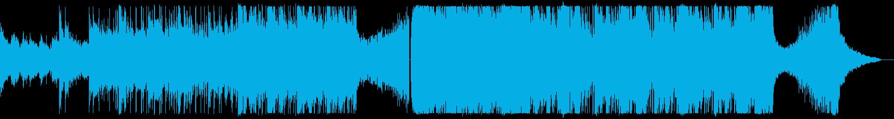 戦闘前_ギター&ドラム&モダンオケBGMの再生済みの波形