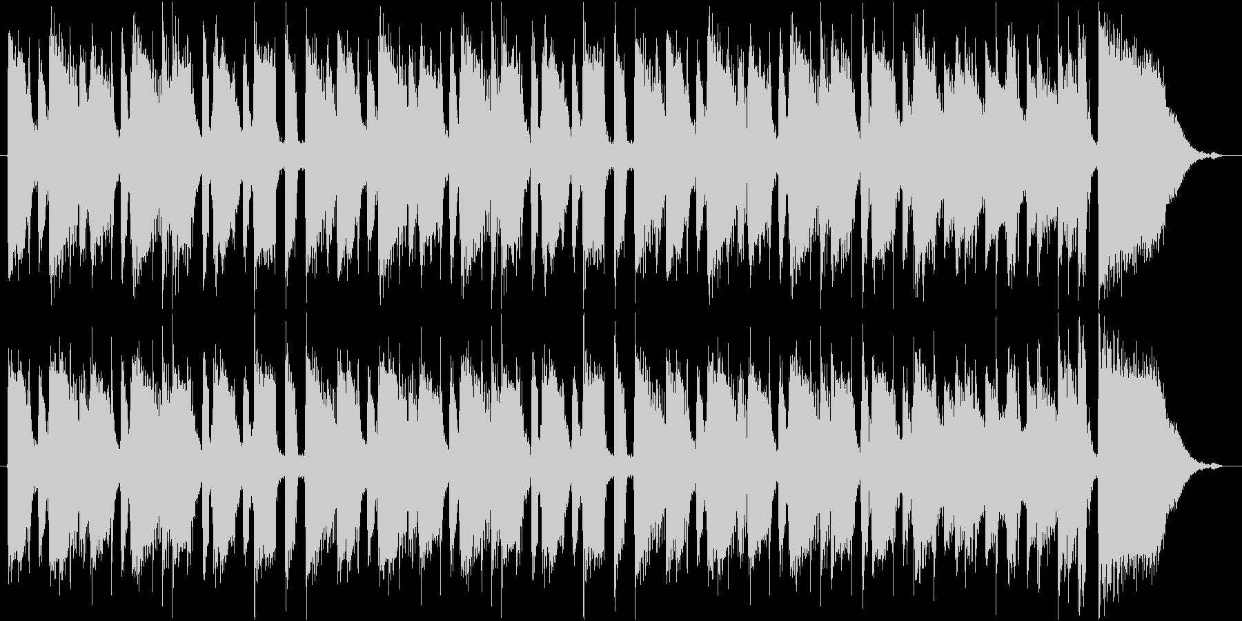 優しいムードのクランチギターの未再生の波形