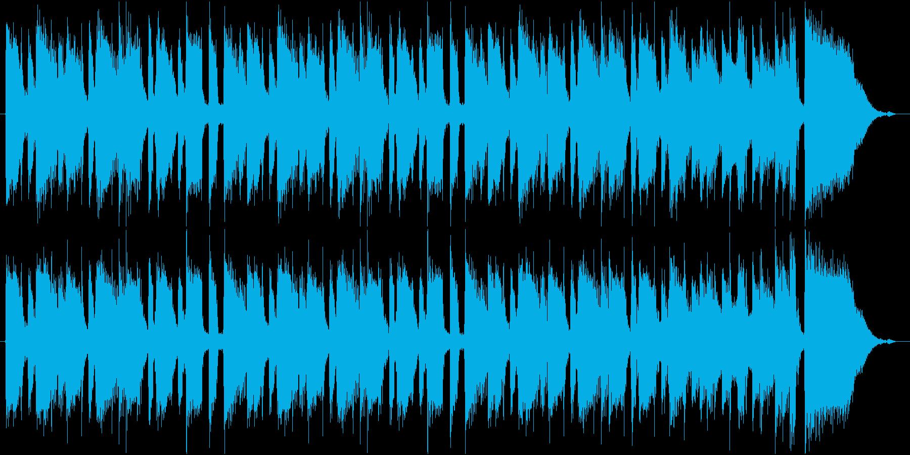 優しいムードのクランチギターの再生済みの波形
