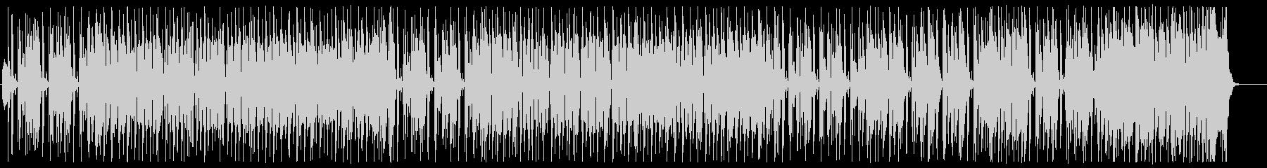 ラジオから流れてくる陽気なオールディーズの未再生の波形