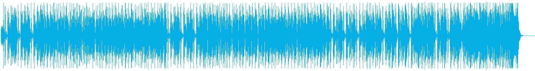 ラジオから流れてくる陽気なオールディーズの再生済みの波形