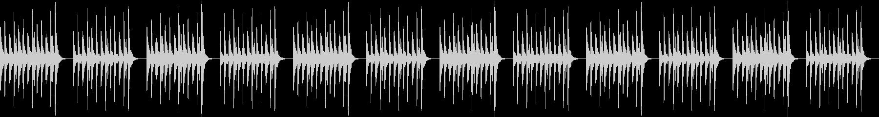 ゆったりしたトークを邪魔しないマリンバの未再生の波形