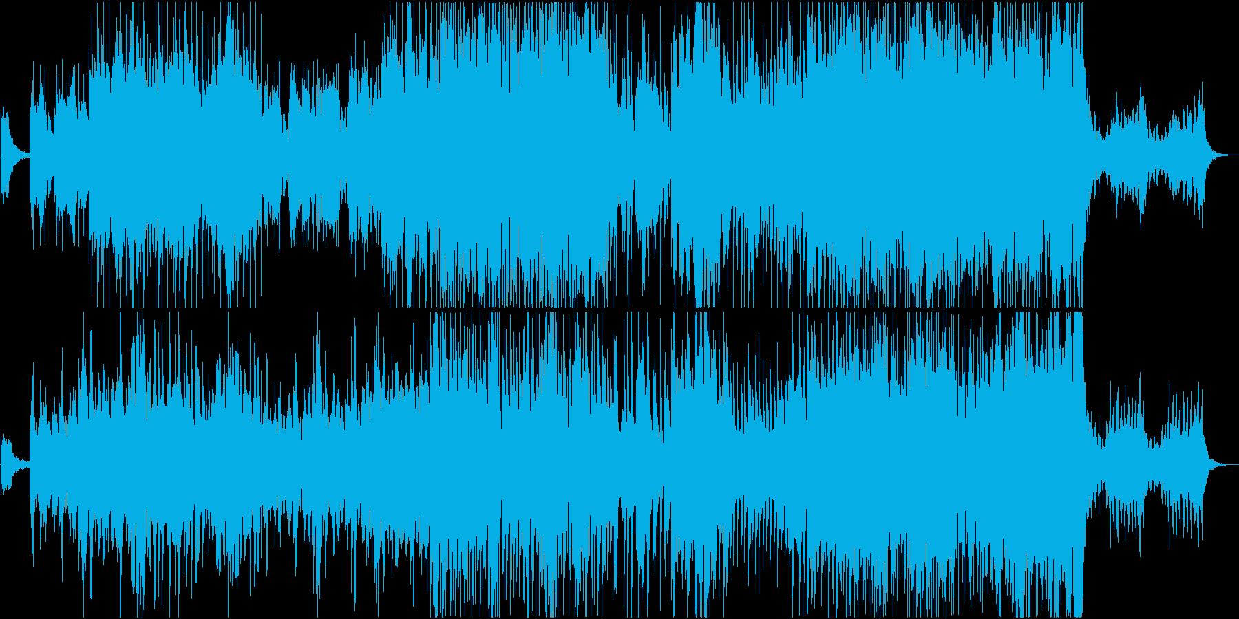 透明感のある軽快でハッピーなピアノBGMの再生済みの波形