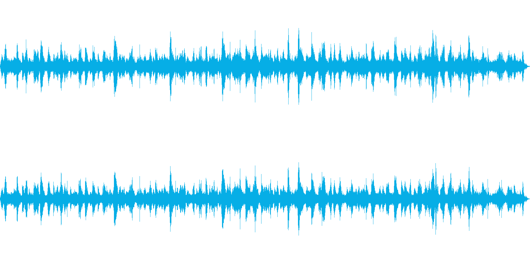 【自然音】穏やかな波 波打ち際_2の再生済みの波形