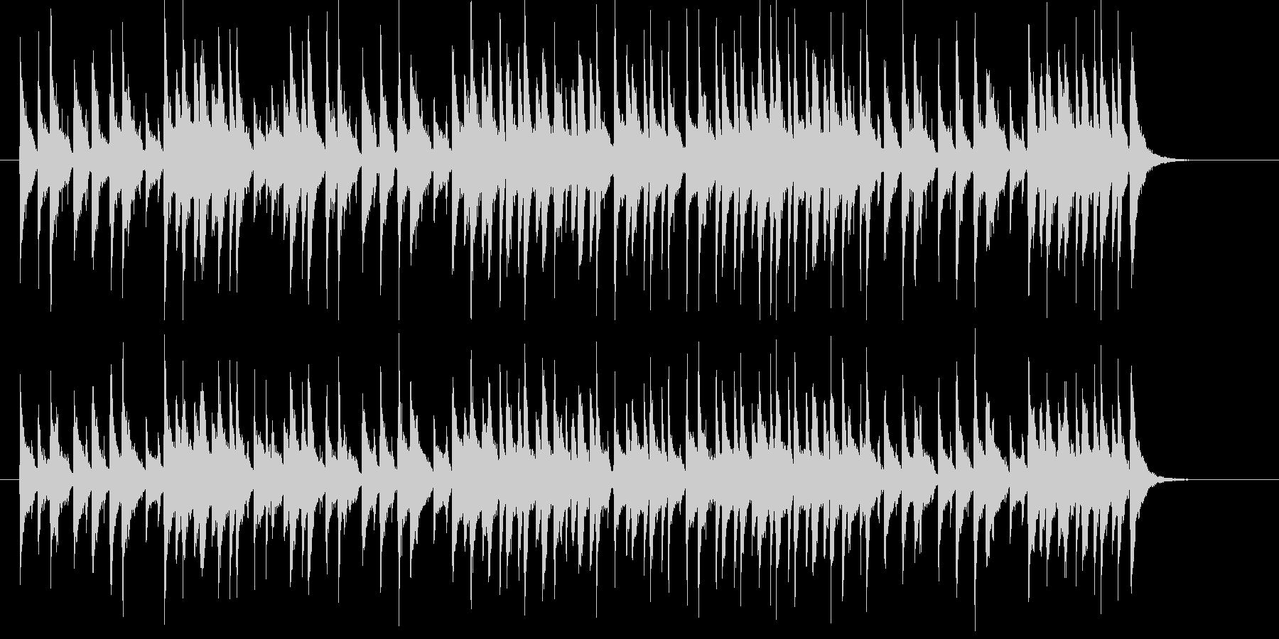 コミカルなシンセサイザーサウンドの未再生の波形