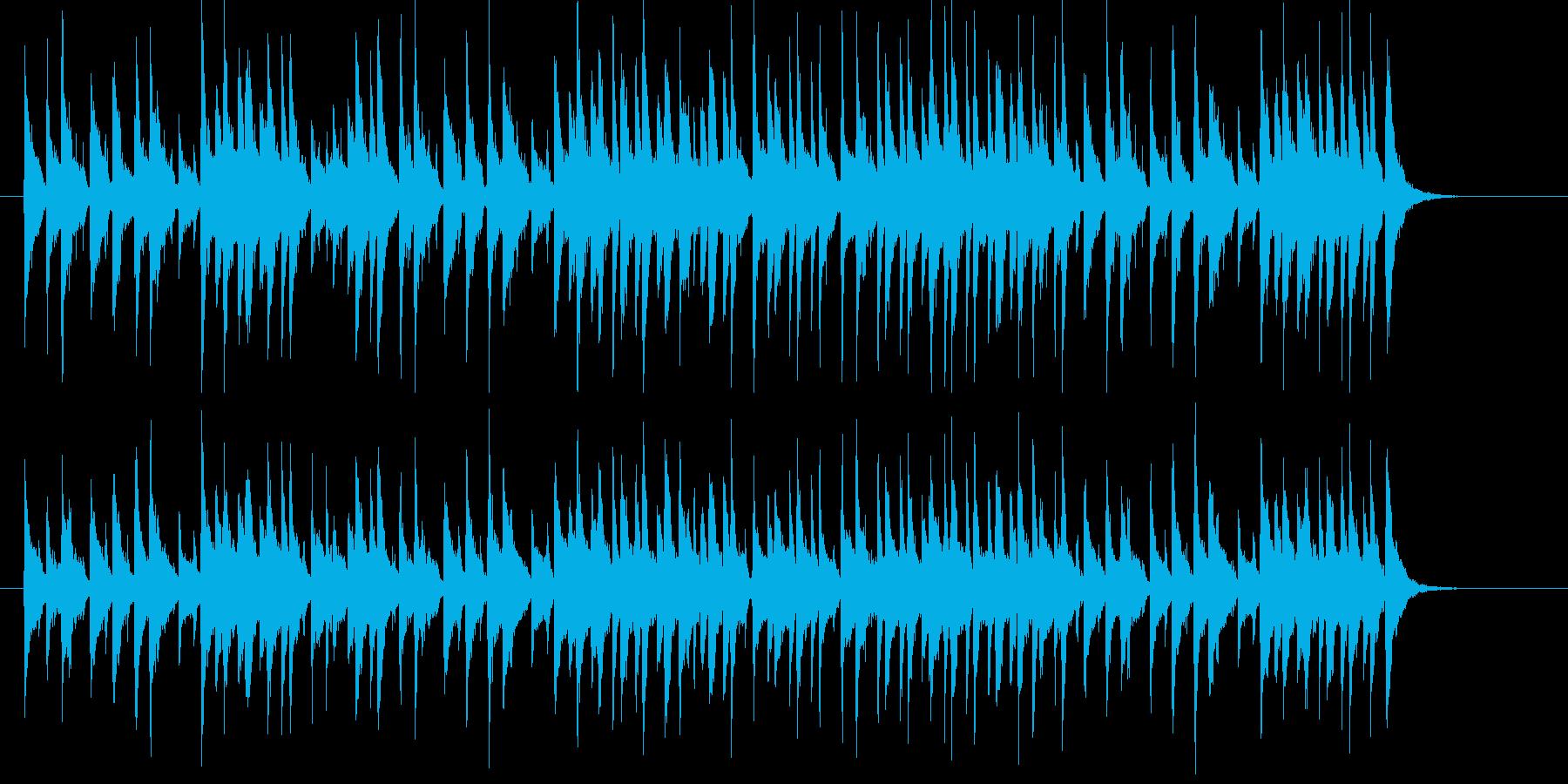 コミカルなシンセサイザーサウンドの再生済みの波形