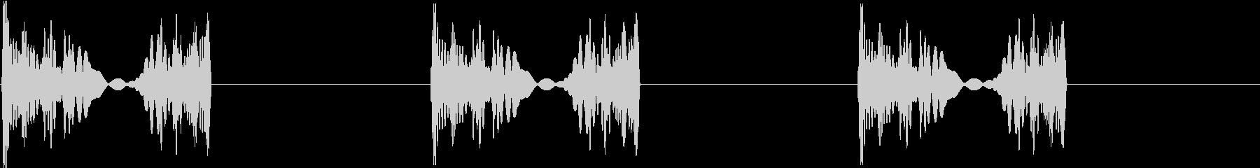 DJプレイ スクラッチ・ノイズ 21の未再生の波形