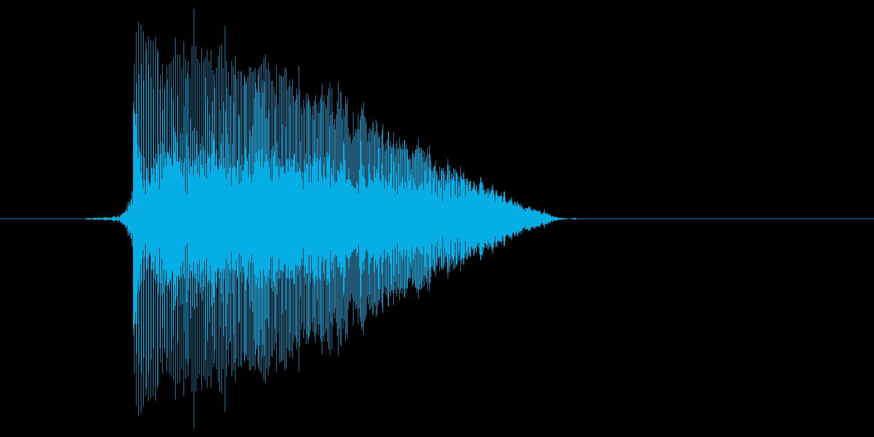 ゲーム(ファミコン風)ジャンプ音_030の再生済みの波形