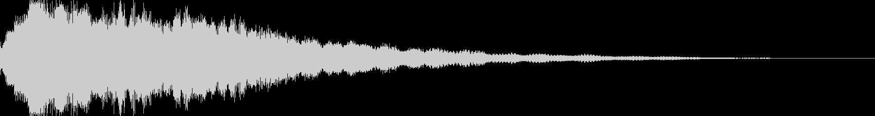 決定、ひらめき等の効果音です ver5の未再生の波形