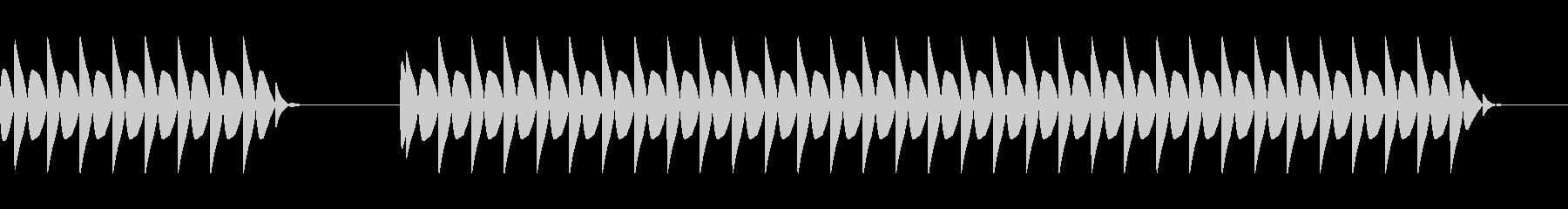 ブブー:不正解の未再生の波形