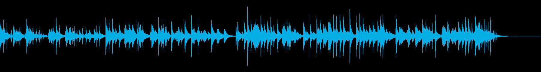 癒しのピアノソロ1の再生済みの波形