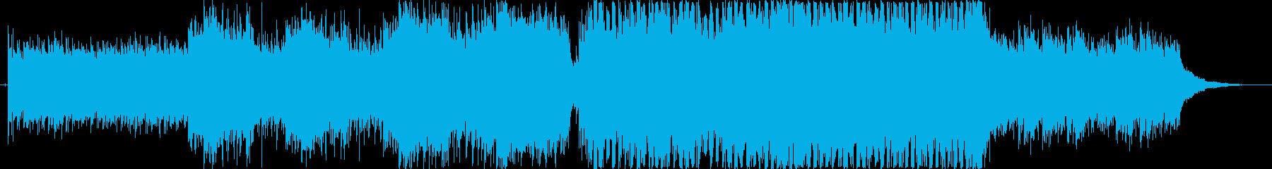 高揚感のあるEDM調ピアノダンス曲の再生済みの波形
