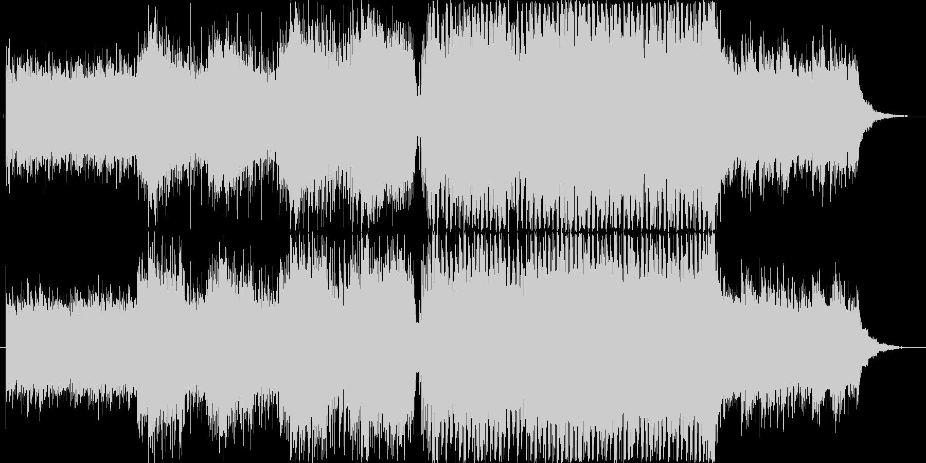 高揚感のあるEDM調ピアノダンス曲の未再生の波形