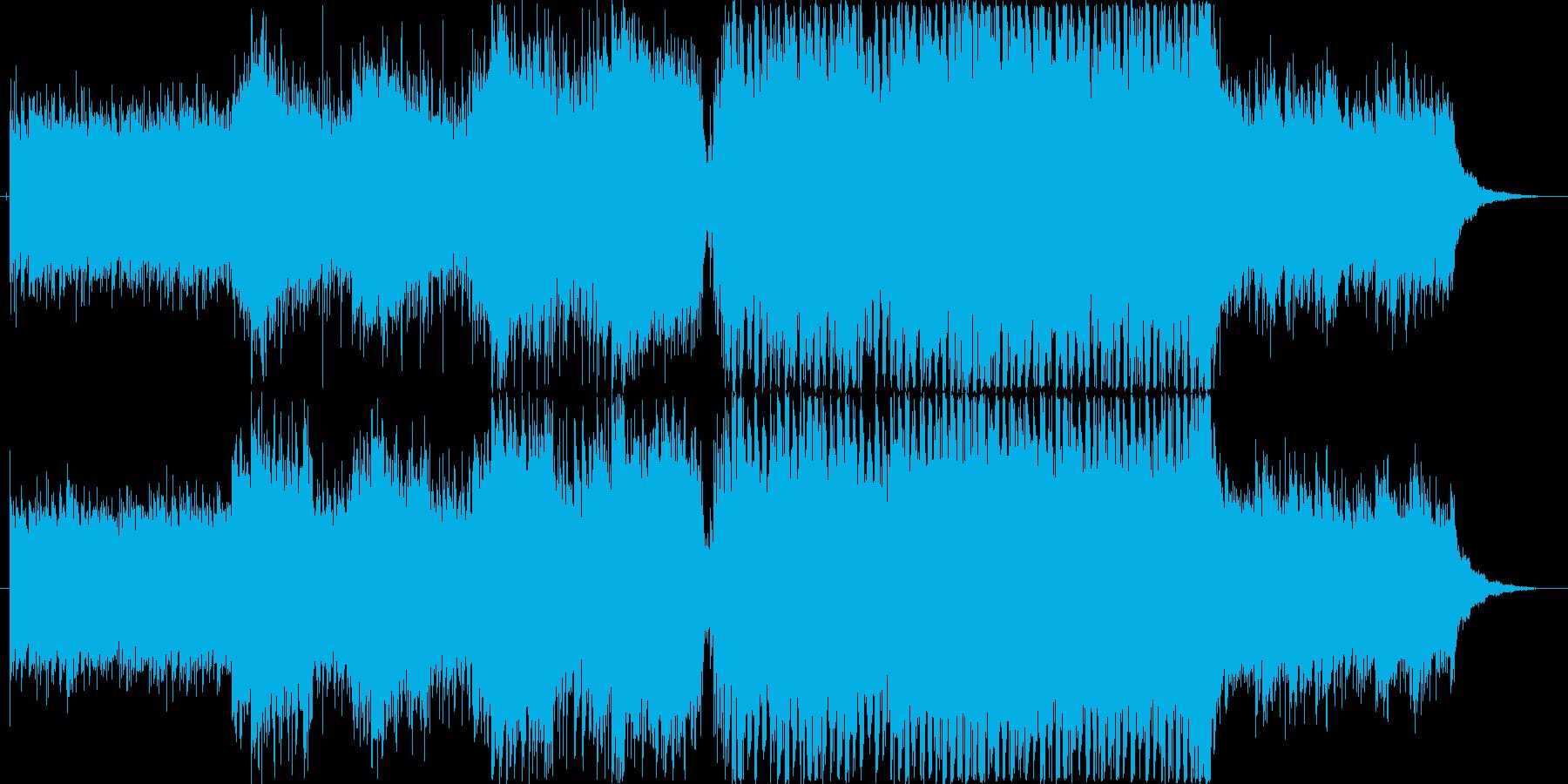ピアノのフレーズが印象的なEDMの再生済みの波形