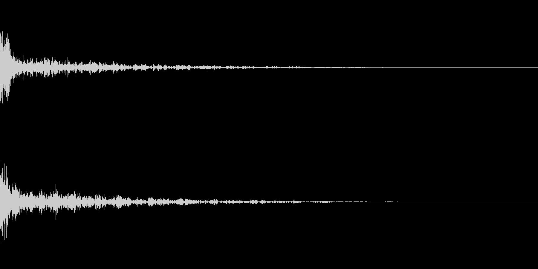 ドーン-33-1(インパクト音)の未再生の波形