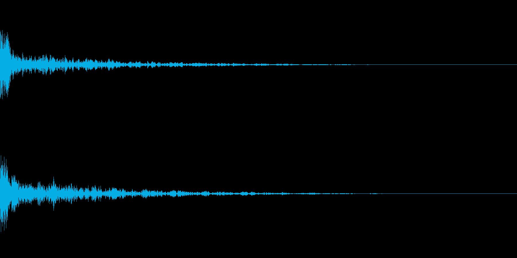 ドーン-33-1(インパクト音)の再生済みの波形