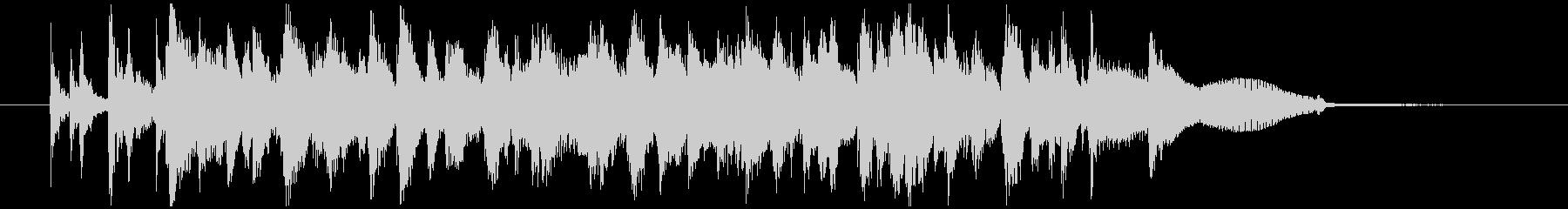 ピアノトリオジャズによるOPEDジングルの未再生の波形