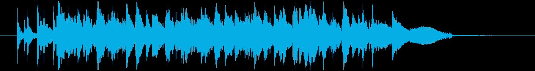 ピアノトリオジャズによるOPEDジングルの再生済みの波形