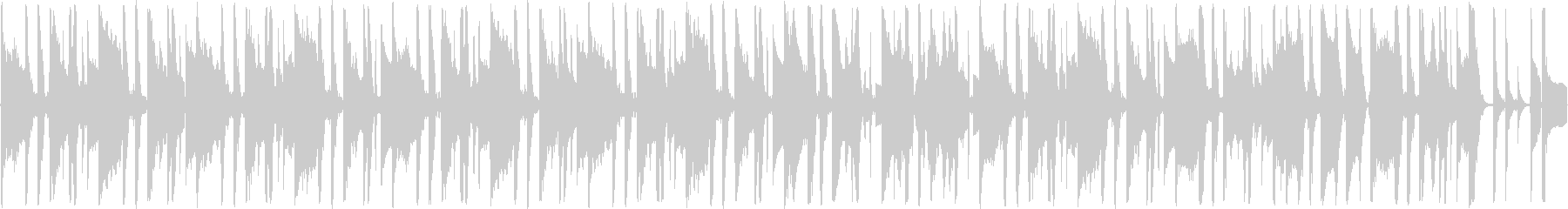 ファンキーでルーズな雰囲気のBGMの未再生の波形