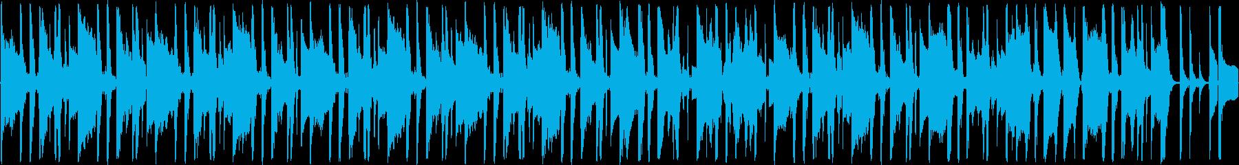 ファンキーでルーズな雰囲気のBGMの再生済みの波形