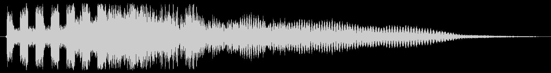 「ビュビュビュビュビューン(シンセ音)」の未再生の波形