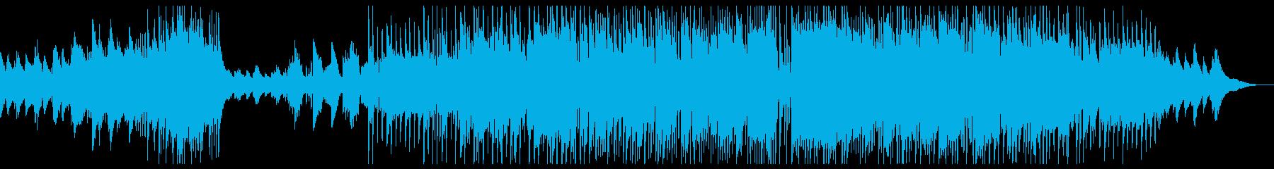朝をイメージしたポップスのインスト曲の再生済みの波形