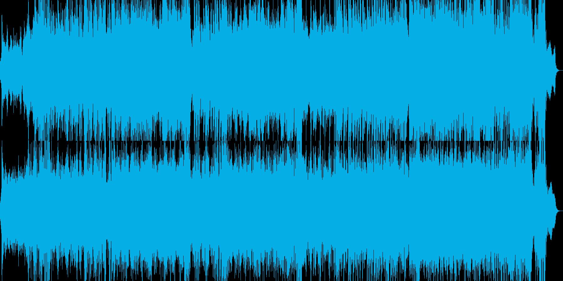 劇的で展開のあるSF映画風オーケストラ曲の再生済みの波形