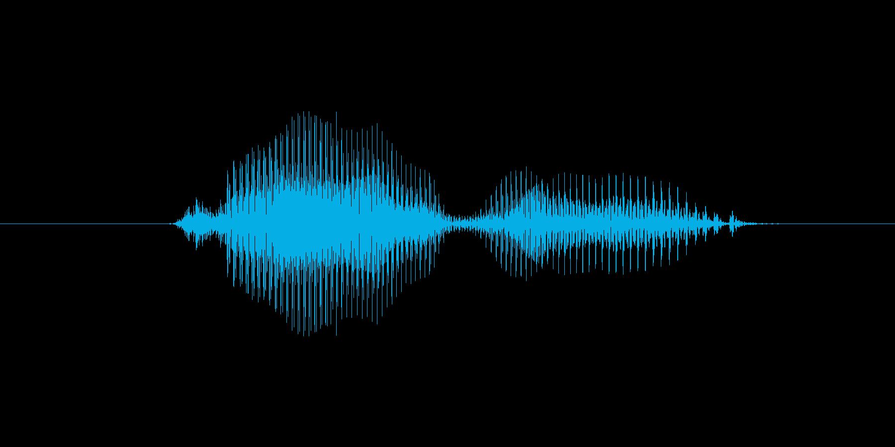 0(数字、女性)の再生済みの波形