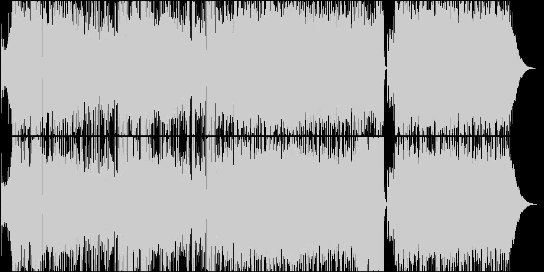 疾走感のあるハイブリッドロックチューンの未再生の波形