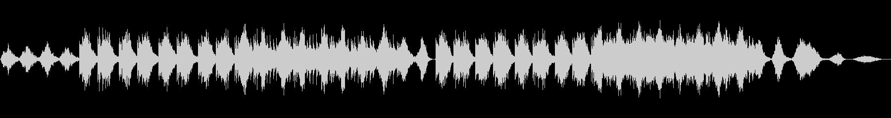 暖かく優しいニューエイジ音楽の未再生の波形