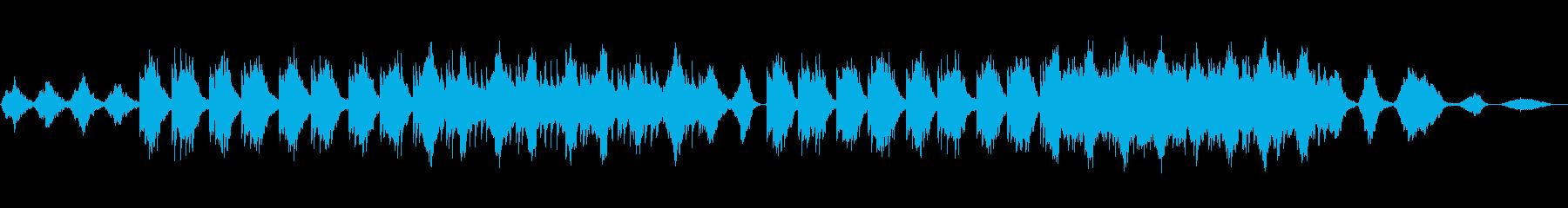 暖かく優しいニューエイジ音楽の再生済みの波形