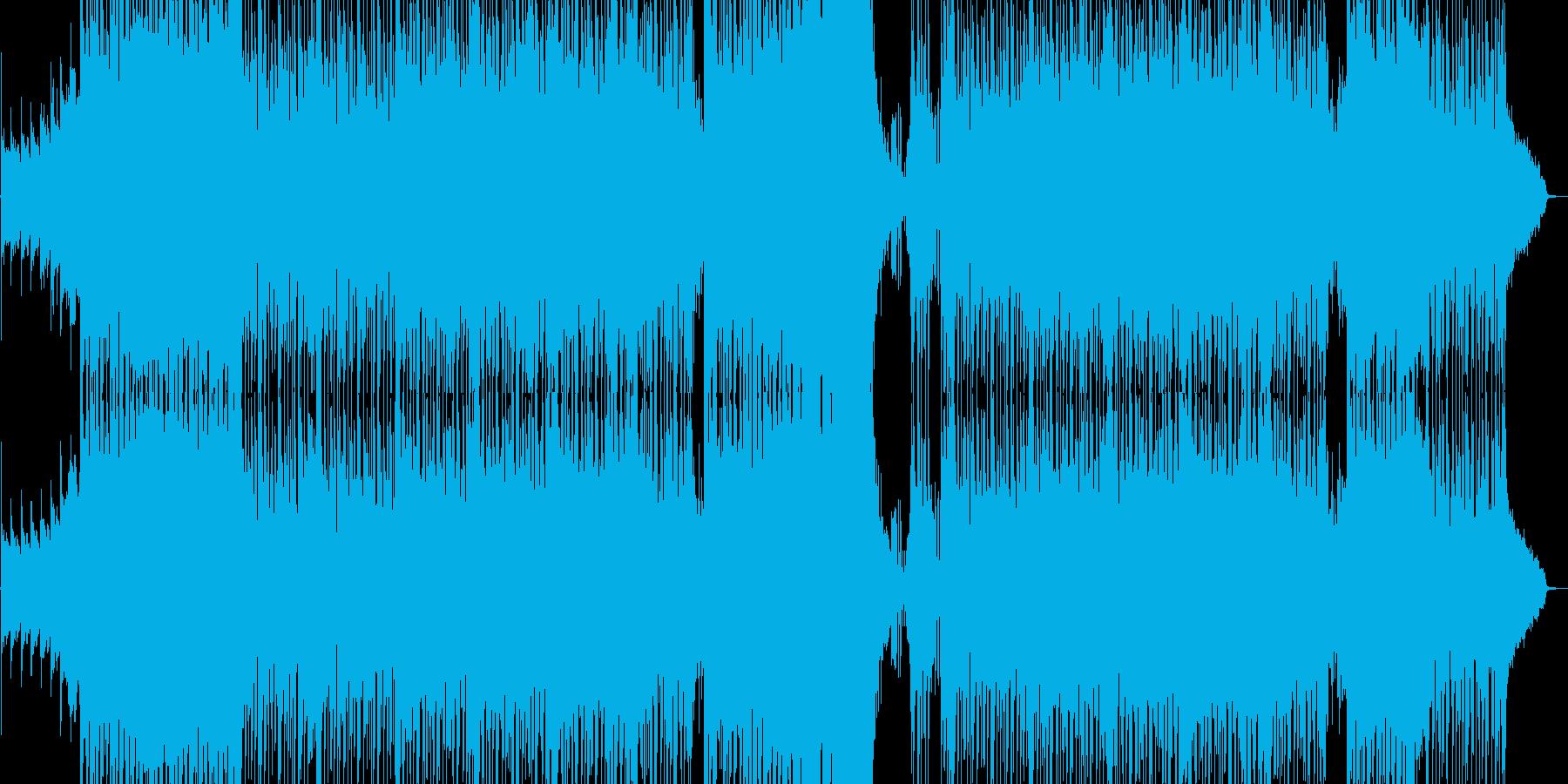 張り付く恐怖感を意識したドラムンベースの再生済みの波形