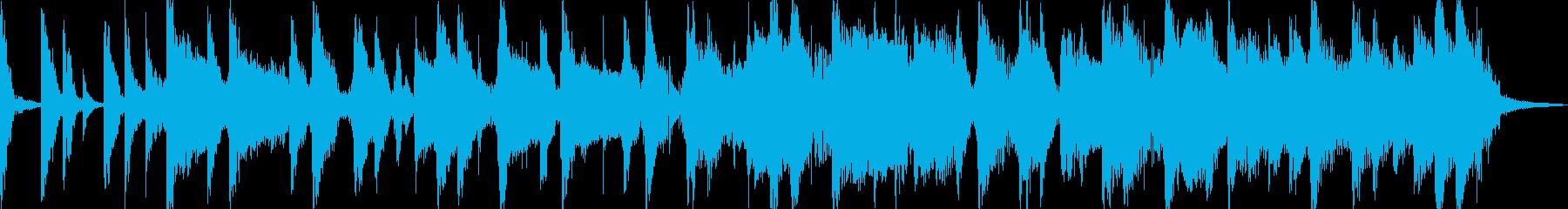 ギターとピコピコ音のポップなジングルの再生済みの波形