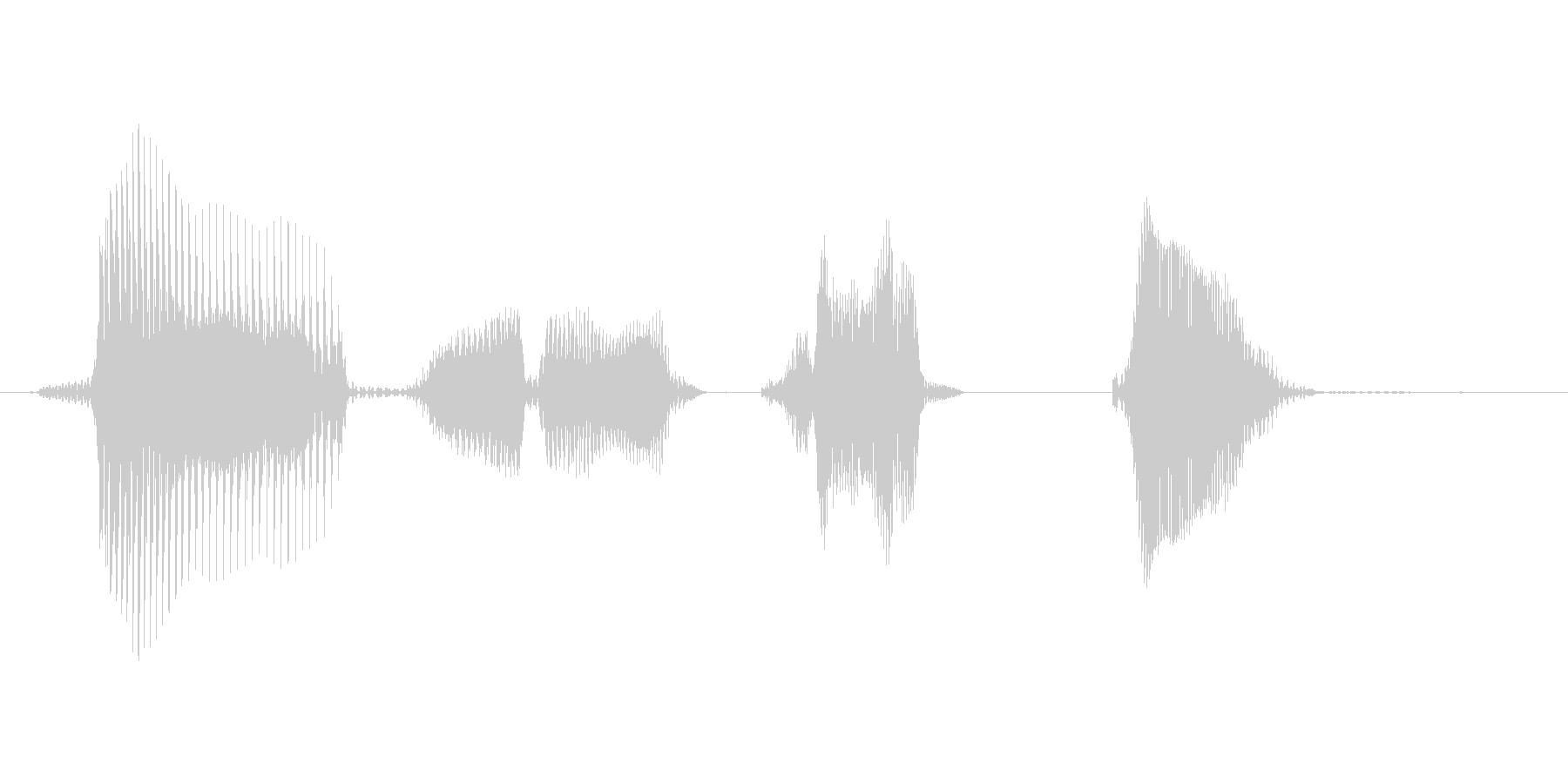 ダブルチョップ!の未再生の波形