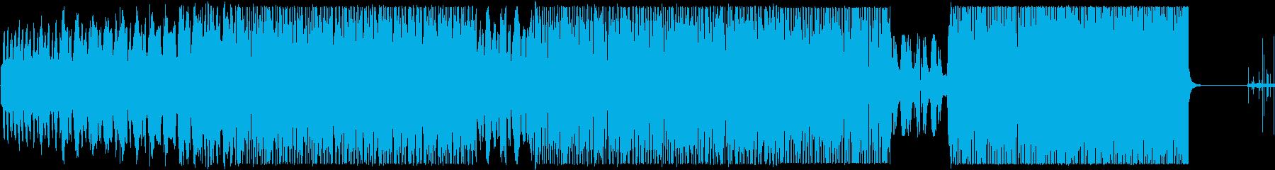 神秘的・幻想的・涼しい雰囲気の電子音楽の再生済みの波形