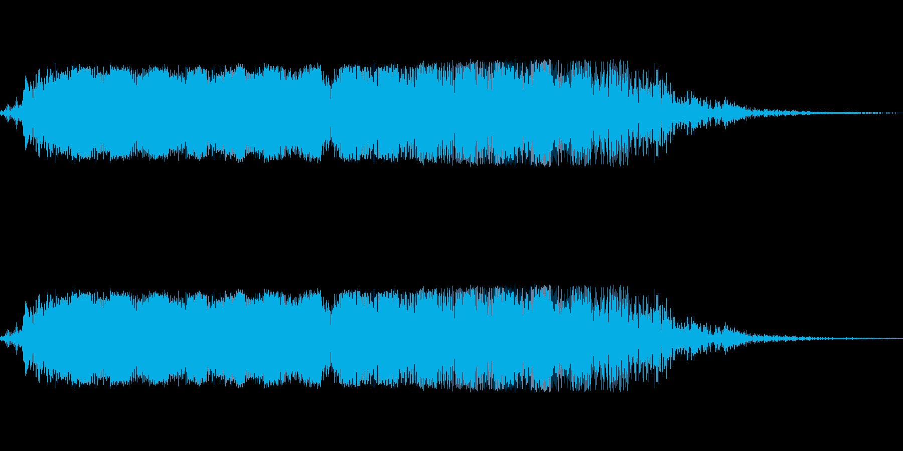 ビヨーンと言ったゲーム音の再生済みの波形