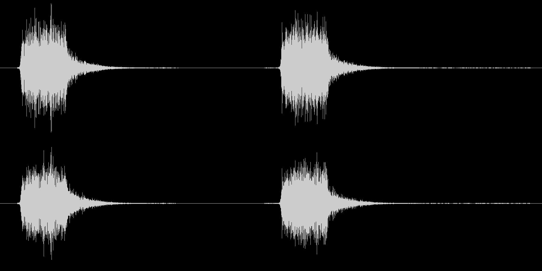 スプレーを噴きかける3の未再生の波形