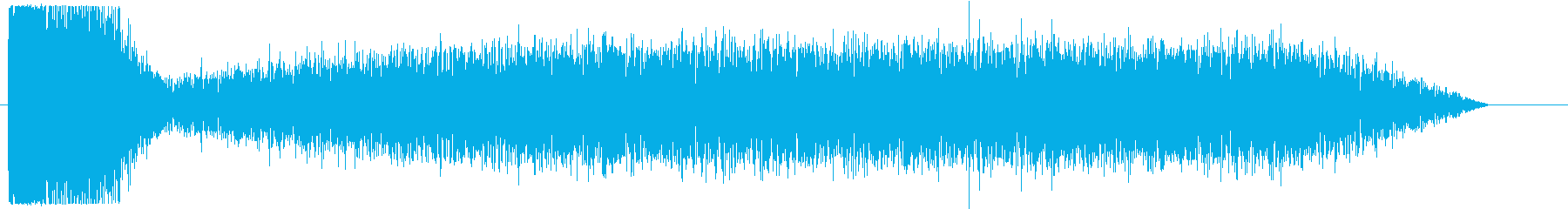 家の爆発の再生済みの波形