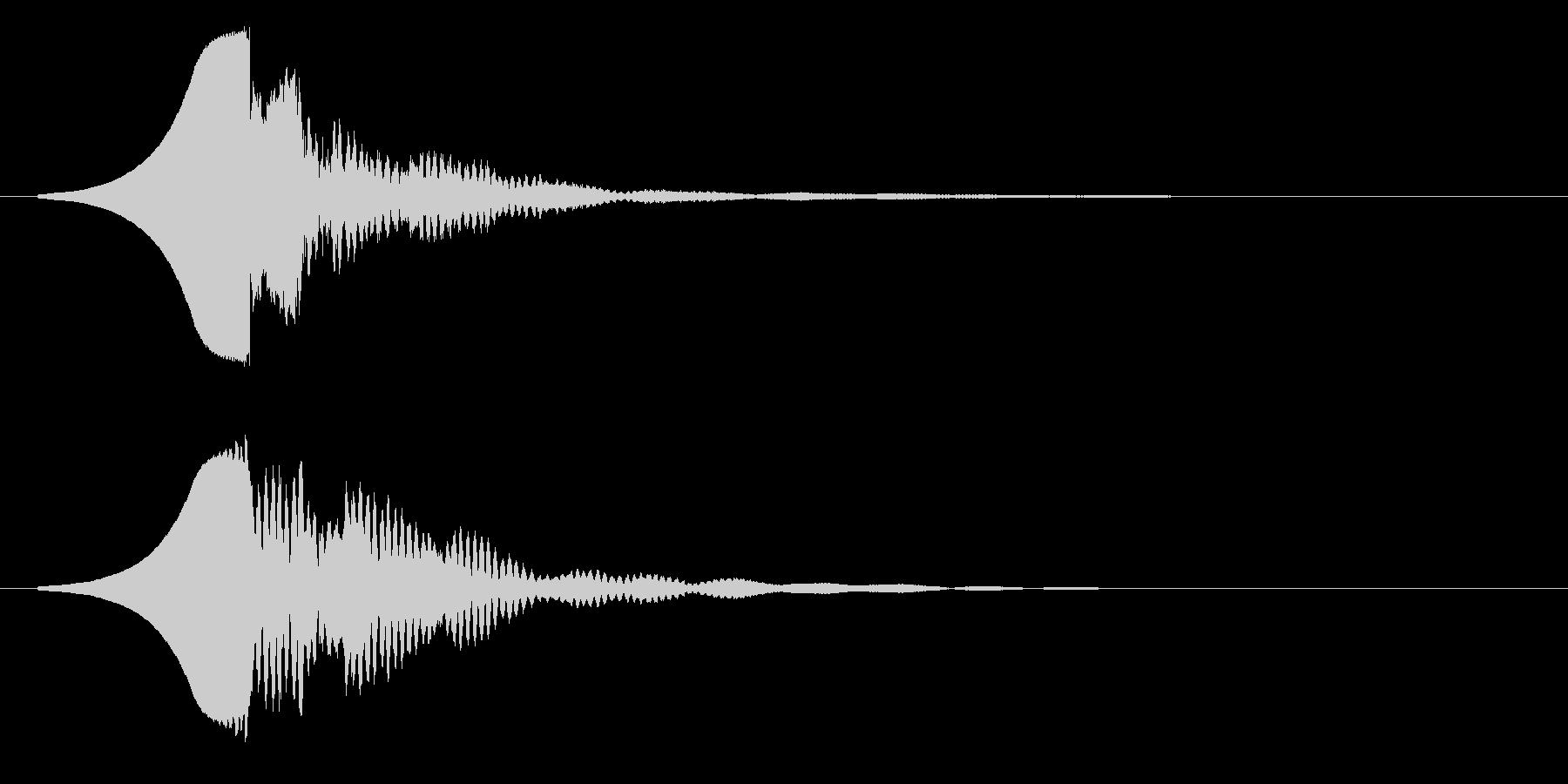 クゥーコーンの未再生の波形