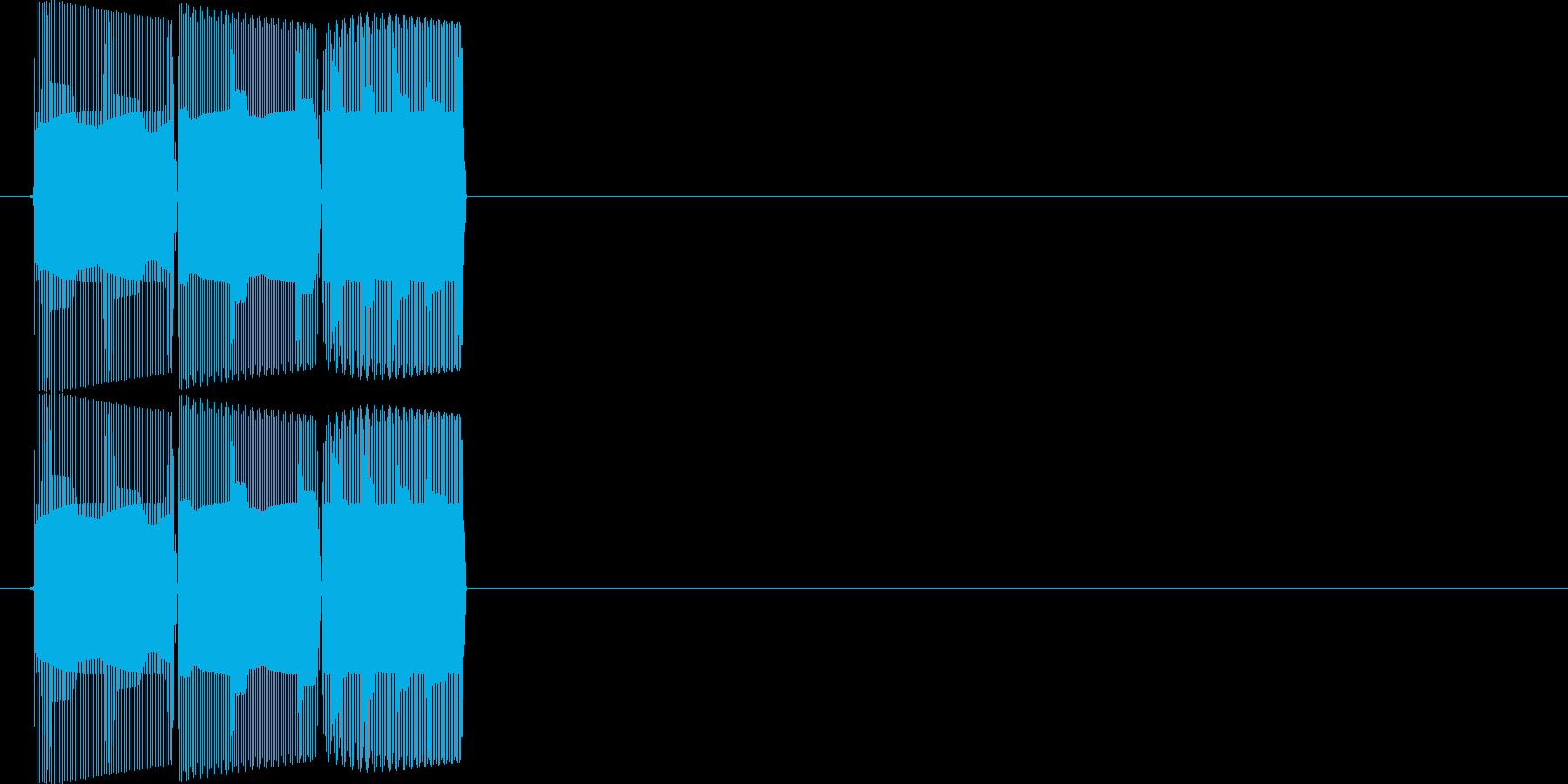 テテテン(アップ音)の再生済みの波形